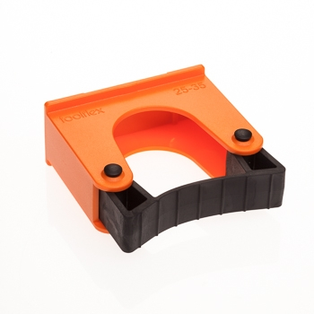 Toolflex Halterung 25-35 mm für Alu-Schiene in orange