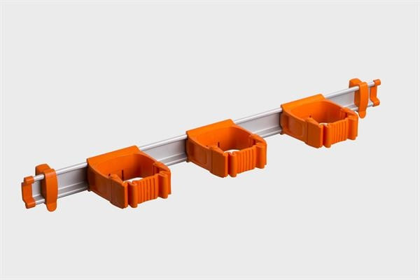 Toolflex One Aluminiumschiene 54 cm mit 3 Haltern Ø 15-35 mm in orange